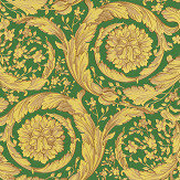 Versace Barocco Green and Yellow Wallpaper - Product code: 36692-6