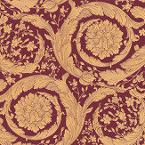 Versace Barocco Orange and Maroon Wallpaper - Product code: 36692-7
