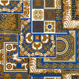Versace Deconpage Blue and Gold Wallpaper - Product code: 37048-1