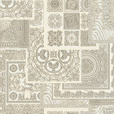 Versace Deconpage Silver and Cream Wallpaper - Product code: 37048-5