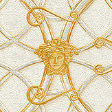 Versace La Scala Del Palazzo Grey and Gold Wallpaper - Product code: 37049-1