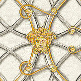 Versace La Scala Del Palazzo Dark Grey and Gold Wallpaper - Product code: 37049-2