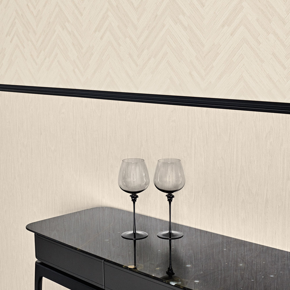 Versace Eterno Tile Beige and Grey Wallpaper - Product code: 37051-1