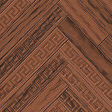 Versace Eterno Tile Redwood Brown Wallpaper - Product code: 37051-3