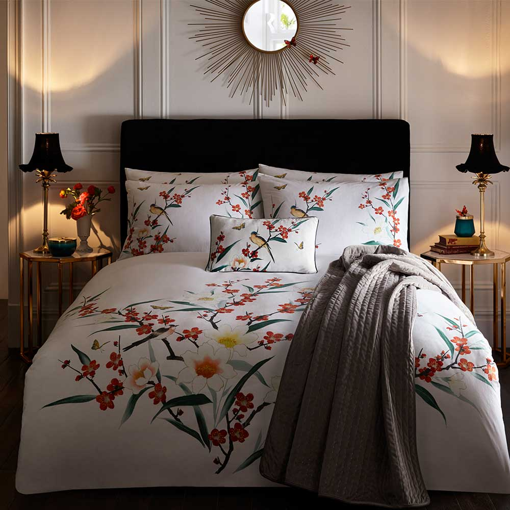 Osaka Duvet Set Duvet Cover - Ivory - by Oasis