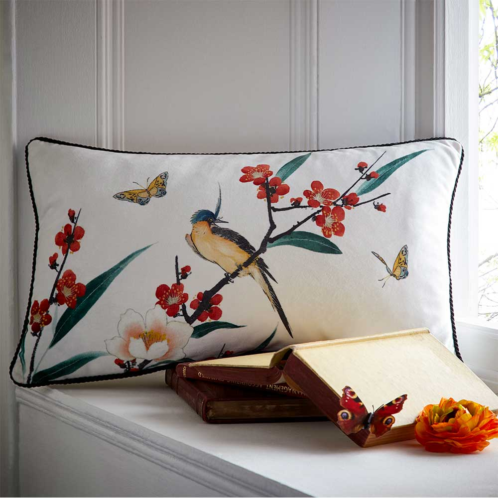 Osaka Boudoir Cushion - Ivory - by Oasis