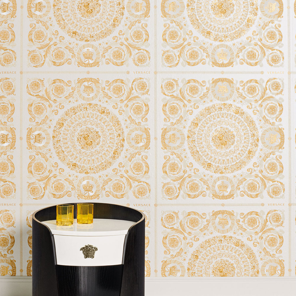 Versace Heritage Cream with Gold Wallpaper - Product code: 37055-2