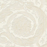 Versace Barocco Scroll Flowers Pearl with Light Gold Wallpaper - Product code: 93583-2