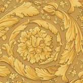Versace Barocco Scroll Flowers Browns Wallpaper - Product code: 93583-3