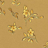 Versace Barocco Ditsy Flowers Gold and Yellow Wallpaper - Product code: 93585-3