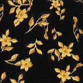 Versace Barocco Ditsy Flowers Black and Yellow Wallpaper - Product code: 93585-4