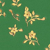 Versace Barocco Ditsy Flowers Green and Yellow Wallpaper - Product code: 93585-6