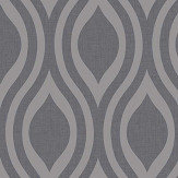 Arthouse Luxe Ogee  Gunmetal  Wallpaper - Product code: 910202