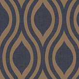 Arthouse Luxe Ogee  Navy Wallpaper - Product code: 910203
