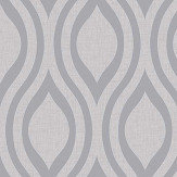 Arthouse Luxe Ogee  Silver Wallpaper - Product code: 910204