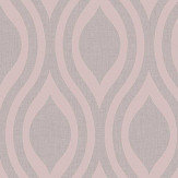 Arthouse Luxe Ogee  Dusky Rose Wallpaper - Product code: 910201