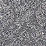 Arthouse Luxe Damask Gunmetal Wallpaper - Product code: 910307