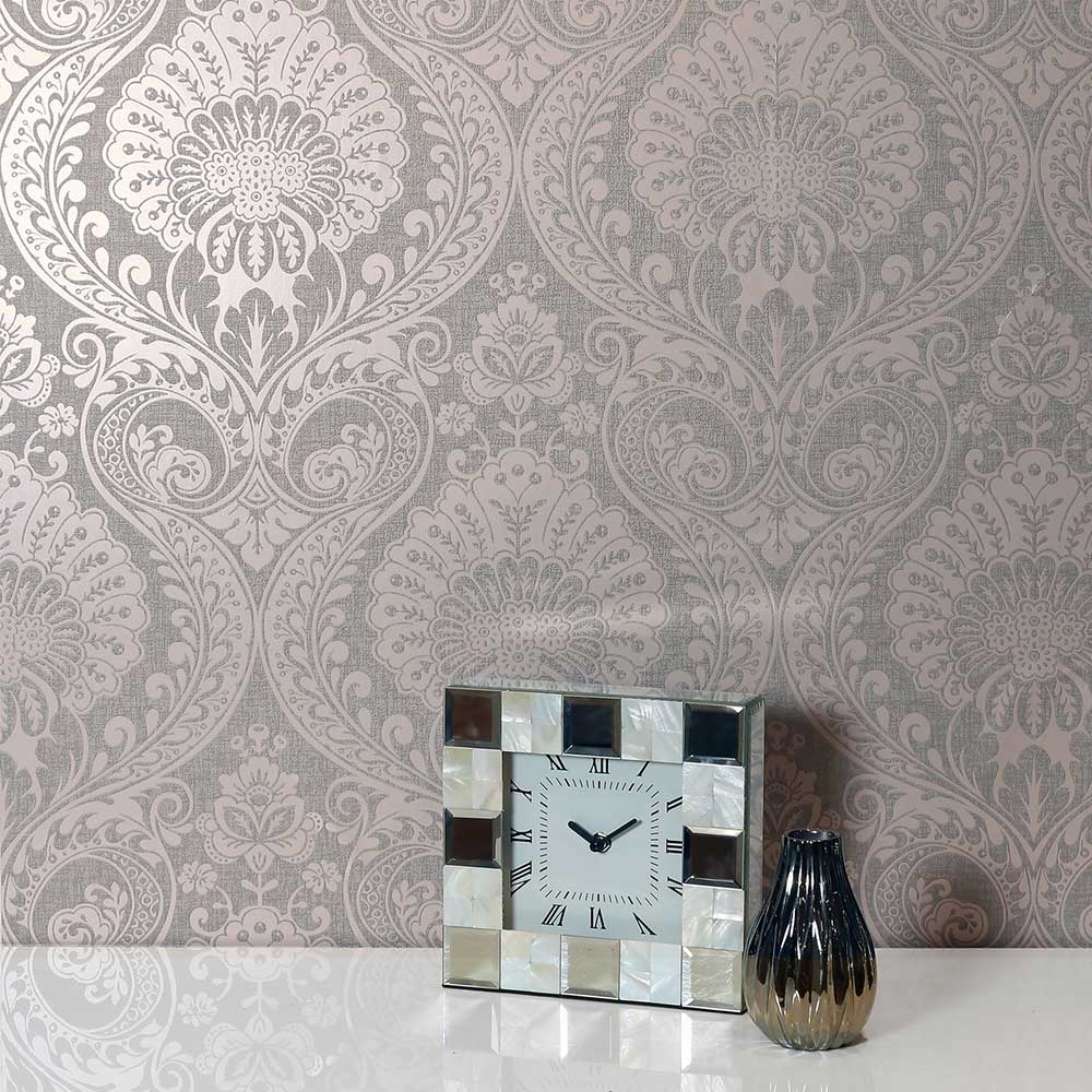 Luxe Damask Wallpaper - Dusky Rose - by Arthouse