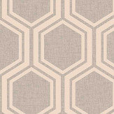 Arthouse Luxe Hexagon Dusky Rose Wallpaper - Product code: 910205