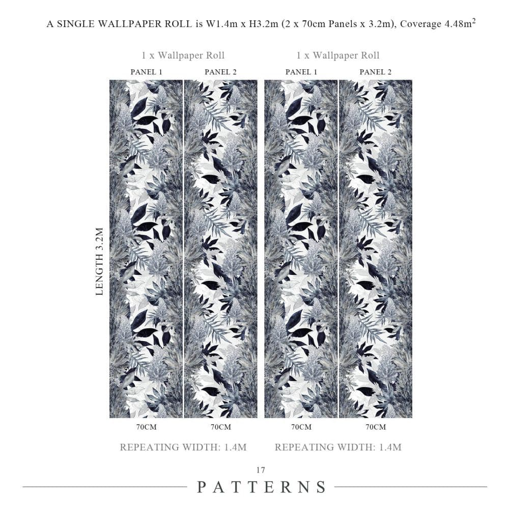 Kimolia Mural - Ocean Blue - by 17 Patterns