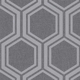 Arthouse Luxe Hexagon Gunmetal Wallpaper - Product code: 906601
