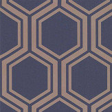 Arthouse Luxe Hexagon Navy Wallpaper - Product code: 906604