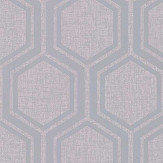 Arthouse Luxe Hexagon Silver Wallpaper - Product code: 910206