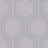 Arthouse Luxe Hexagon Silver Wallpaper - Product code: 910206