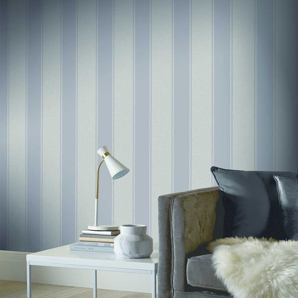 Arthouse Luxe Stripe Silver Wallpaper - Product code: 906607