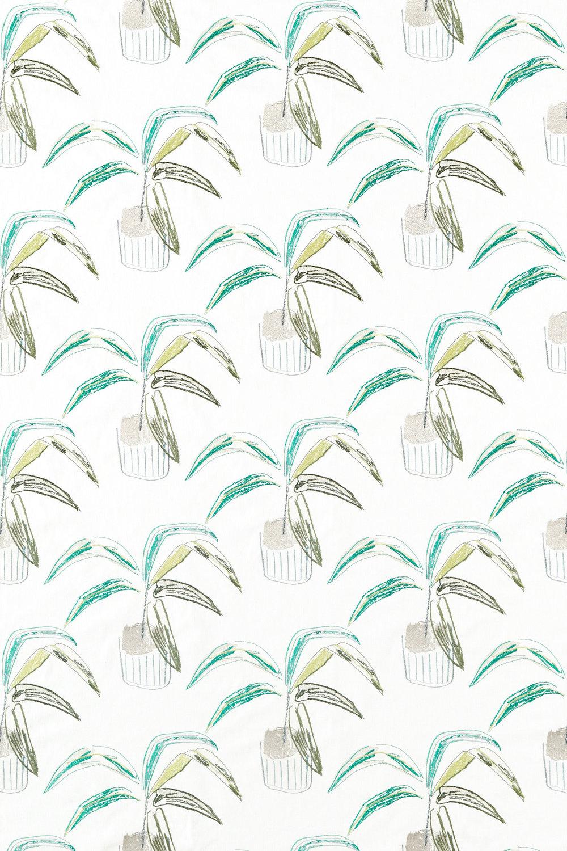 Crassula Fabric - Juniper / Lime / Moss - by Scion