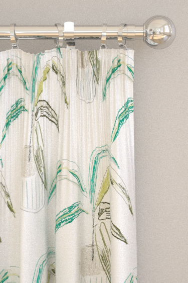 Scion Crassula Juniper / Lime / Moss Curtains - Product code: 132860