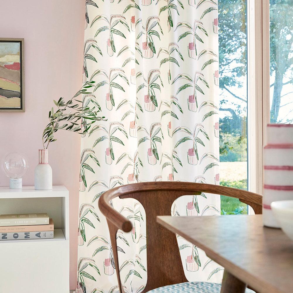 Crassula Fabric - Marine / Tangerine / Mint - by Scion
