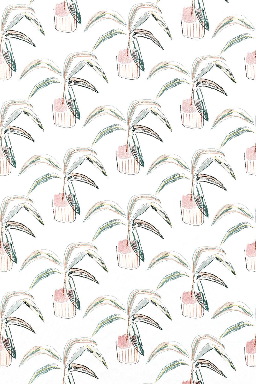Crassula Fabric - Blush / Brick / Mist - by Scion