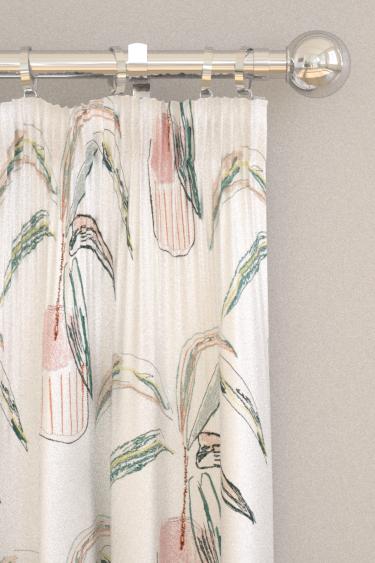 Scion Crassula Blush / Brick / Mist Curtains - Product code: 132862