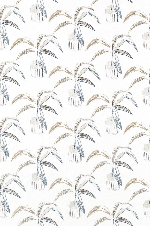 Crassula Fabric - Putty / Dove / Slate - by Scion
