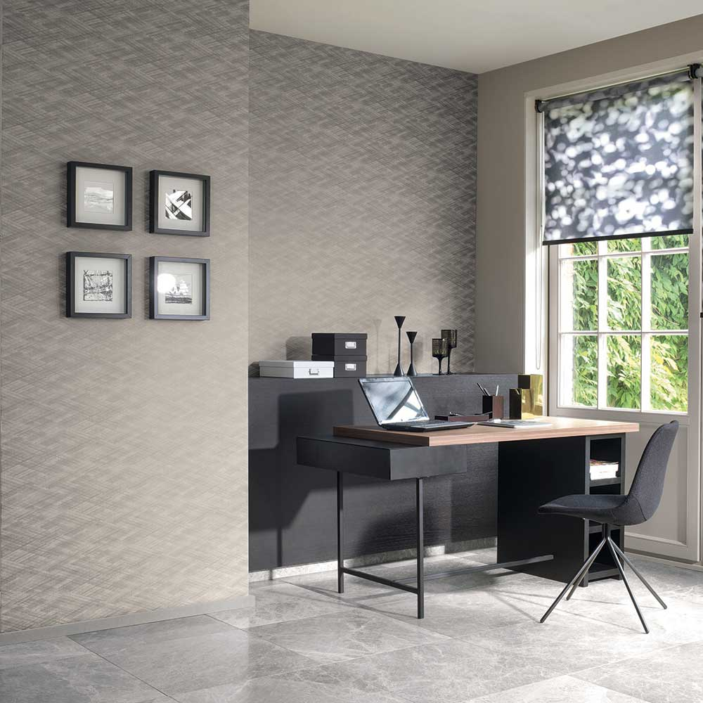 Casadeco Effet Losange Black Wallpaper - Product code: 80639602