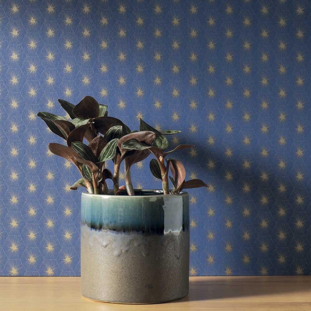 Suta Wallpaper - Midnight Blue - by Casadeco