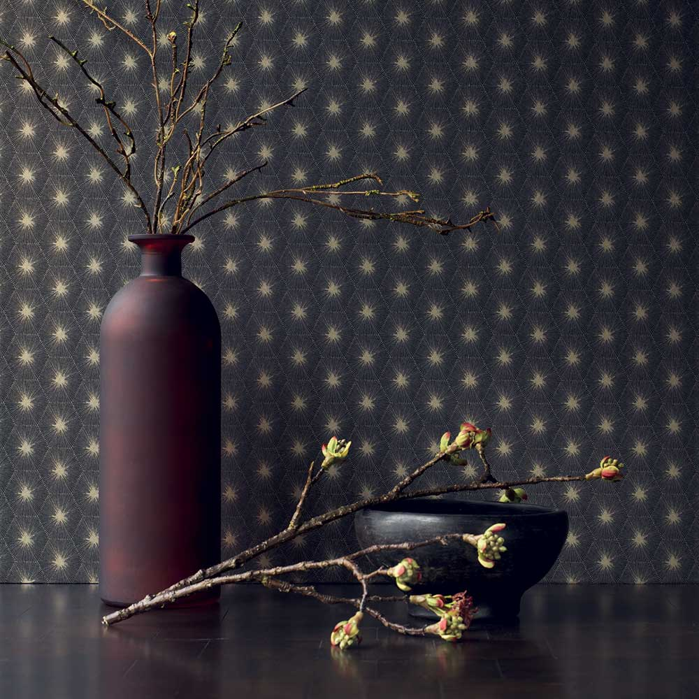 Casadeco Suta Black Wallpaper - Product code: 82159520