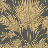 Casadeco Josephine Foil Black / Gold Wallpaper - Product code: 82249502