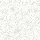 Casadeco Monceau White Wallpaper - Product code: 82350101