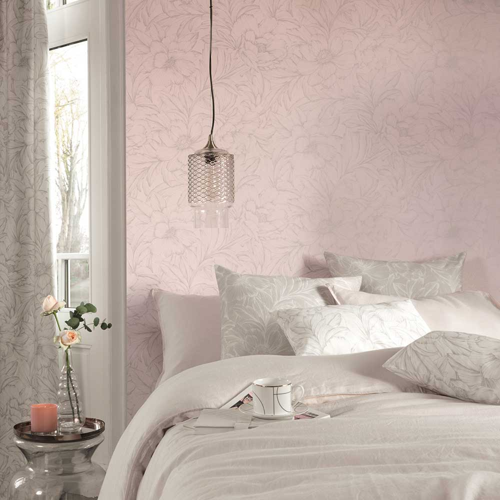 Casadeco Monceau Rose Pink Wallpaper - Product code: 82354121