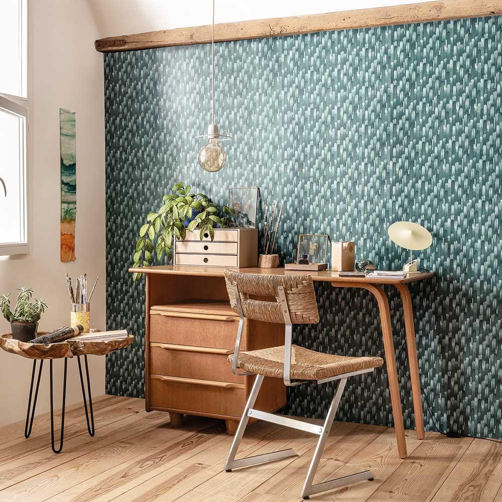 Ocelle Wallpaper - Green - by Casadeco