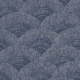 Casadeco Walter Foil Blue / Silver Wallpaper - Product code: 84096505