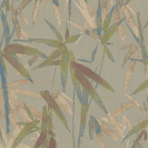 Brewers Bamboo Metallic Greens and Copper Wallpaper - Product code: 23700
