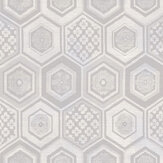 Brewers Hexagon Purples and Cream Wallpaper - Product code: 23734