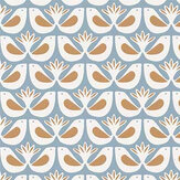Caselio Freedom Blue and Ochre Wallpaper - Product code: 100586517