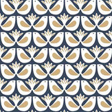 Caselio Freedom Dark Blue and Gold Wallpaper - Product code: 100586931