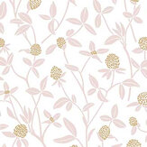 Caselio Serenity Old Rose and Gold Wallpaper - Product code: 100564334