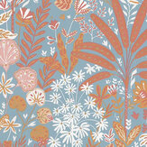Caselio Hope Blue, Ochre and Marsala Wallpaper - Product code: 100596524