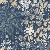 Caselio Hope Dark Blue and Gold Wallpaper - Product code: 100596913